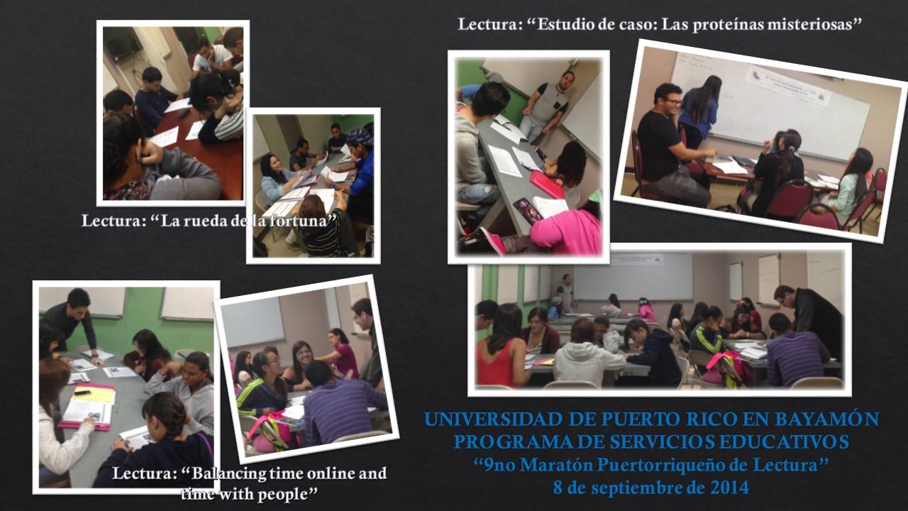 9no Maratón Puertorriqueño de Lectura-Serv. Educativos UPRB